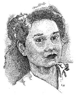 Drawing - Stephen's  Mom by Clayton Cannaday