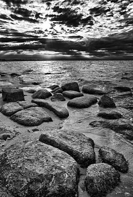 Stepping Stones On Great South Bay Art Print by Rick Berk