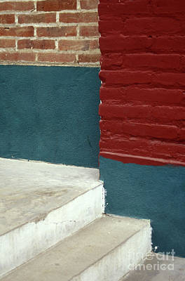 Photograph - Steps And Rectangles Mexico by John  Mitchell
