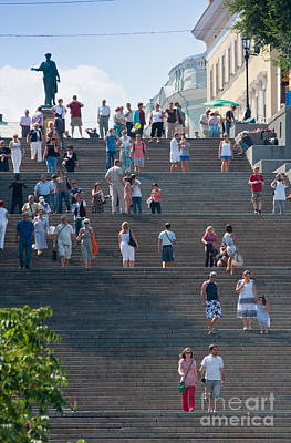 People Photograph - Steps by Andrew  Michael