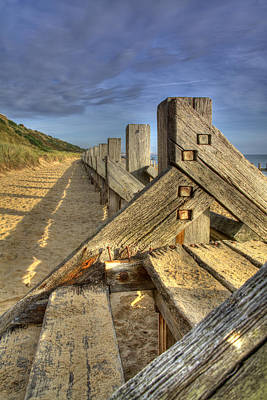 Photograph - Steps To Beach by Ian Merton