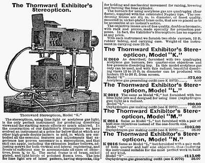 Stereopticons Photograph - Stereopticon, 1900 by Granger