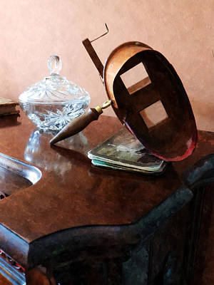 Stereopticon Photograph - Stereopticon With Glass Bowl by Susan Savad