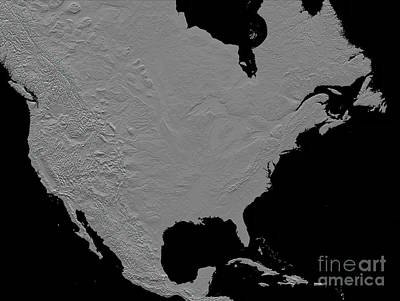 Stereoscopic View Of North America Art Print by Stocktrek Images