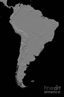 Stereoscopic View Of South America Art Print by Stocktrek Images