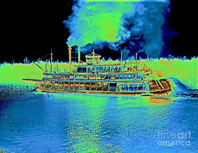 Steamboat Photograph - Stern-wheel Steamboat Belle Of Calhoun 1906 by Padre Art
