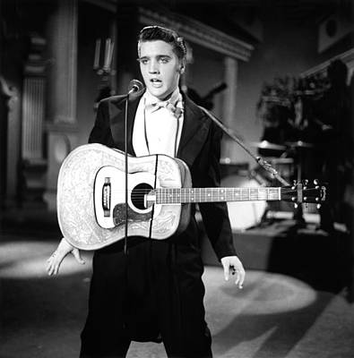 Steve Allen Show, 1956-61, Elvis Art Print by Everett