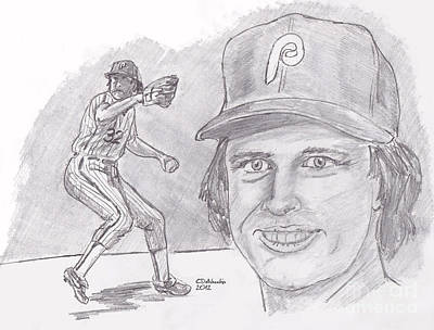 Steve Carlton- Lefty Art Print by Chris  DelVecchio