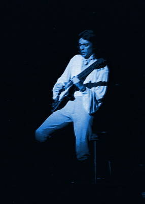 Photograph - Steve Hackett Blue 2 by Ben Upham