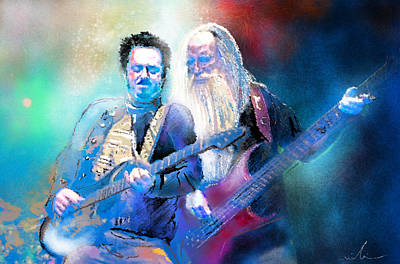 Toto Painting - Steve Lukather And Leland Sklar From Toto 02 by Miki De Goodaboom