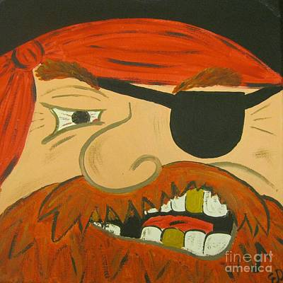 Steve The Pirate Art Print by Eva  Dunham