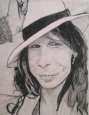 Aerosmith Drawing - Steven Tyler by Brittany Frye