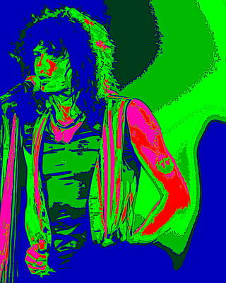 Steven Tyler Digital Art - Steven In Spokane 1d by Ben Upham