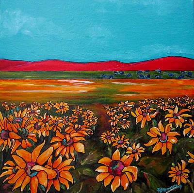 Painting - Steve's Texas Blues by Patti Schermerhorn