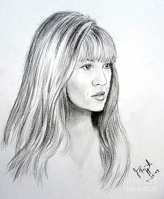 Drawing - Stevie Nicks by Jim Fitzpatrick