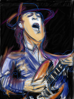 Stevie Ray Art Print by Russell Pierce