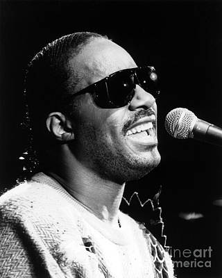 Stevie Wonder 1986 Art Print by Chris Walter