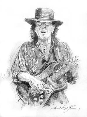 Stratocaster Painting - Stevie's Blues by David Lloyd Glover