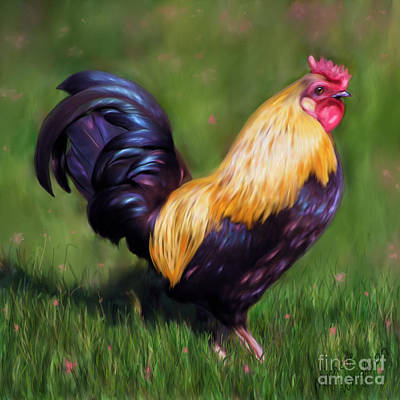 Painting - Stewart The Bantam Rooster by Michelle Wrighton