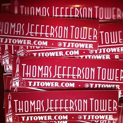 Politicians Wall Art - Photograph - Stickers Are In! #letsrestoregreatness by Thomas Jefferson Tower