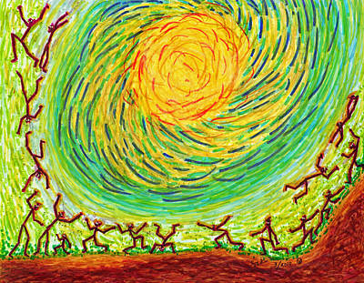 Stickmen In The Sun Original by Carl Deaville