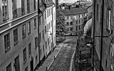 Art Print featuring the photograph Stieg Larsson's Stockholm by Nancy De Flon