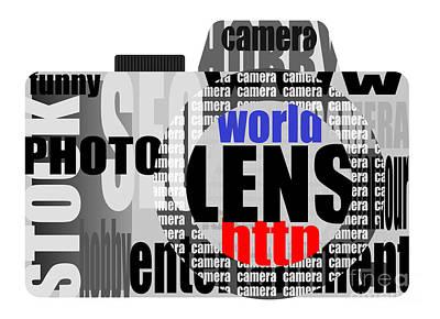 Caption Digital Art - Still Camera From Words by Michal Boubin