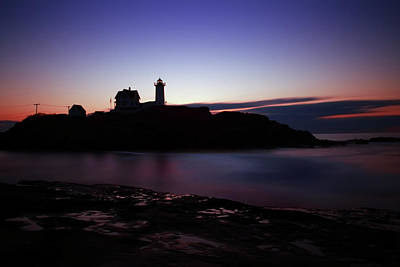 Nubble Lighthouse Photograph - Still Dawn Cape Neddick by Rick Berk