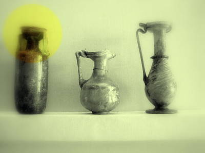 Photograph - Still Life - Roman Pitchers by Kathleen Grace