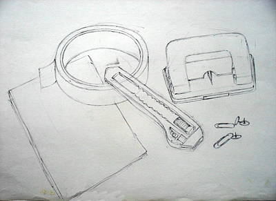 Punching Drawing - Still Life 40 by Mohd Raza-ul Karim