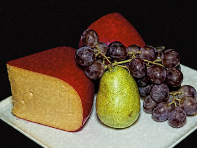 Photograph - Still Life Cheese Fruit by Barbara Middleton
