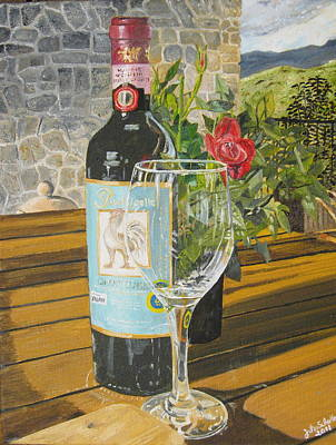 Still Life In Chianti Art Print by John Schuller