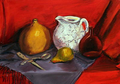 Still Life In Red Art Print