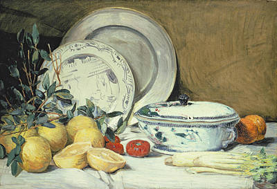 Lemon Painting - Still Life by Julian Alder Weir