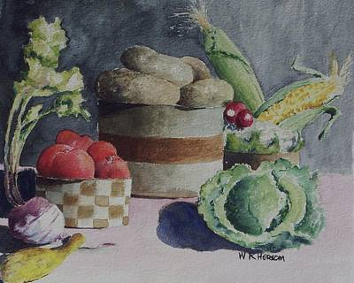Still Life Number Four Art Print by W R  Hersom