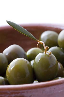 Still Life Of Spanish Campo Real Olives Art Print