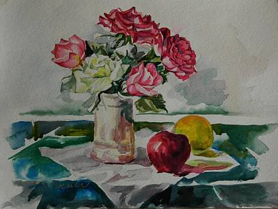 Table Cloth Painting - Still Life Series No. 3 by Min Wang
