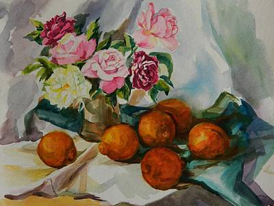 Table Cloth Painting - Still Life Series No. 4 by Min Wang