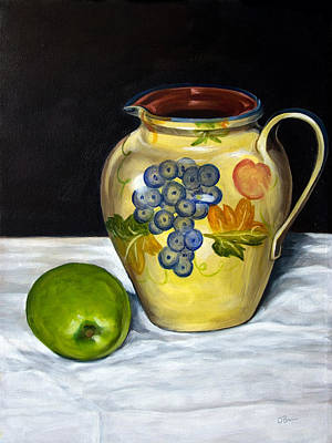 Still Life With Apple And Pitcher Original by John OBrien