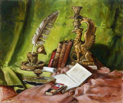 Still Life Painting - Still Life With Books 2 by Irek Szelag