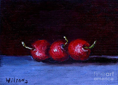 Painting - Still Life With Cherries by Fred Wilson