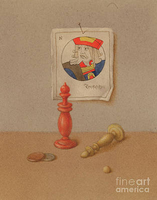 Painting - Still Life With Chess by Victor Sap