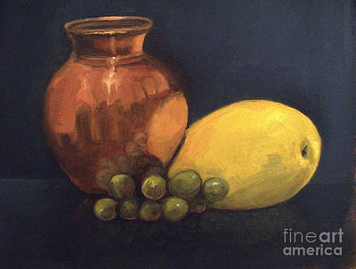 Painting - Still Life With Copper Pot by Asha Sudhaker Shenoy