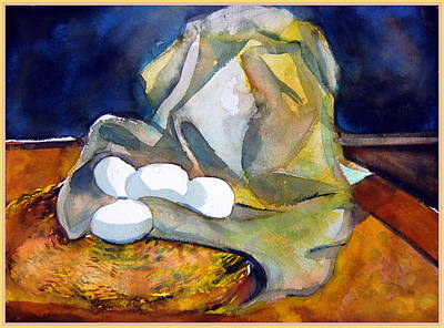 Interior Still Life Painting - Still Life With Eggs by Mindy Newman
