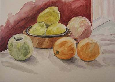 Still Life With Fruits Art Print by Kate Partali