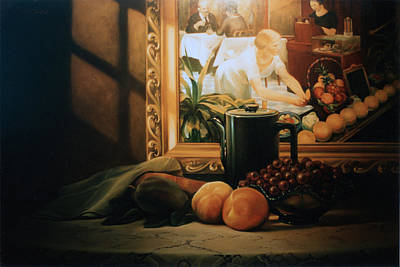 Grapefruit Painting - Still Life With Hopper by Patrick Anthony Pierson