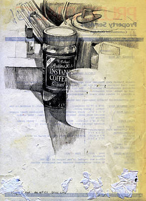 Still Life Drawing - Still Life With Instant Coffee by Andy  Mercer