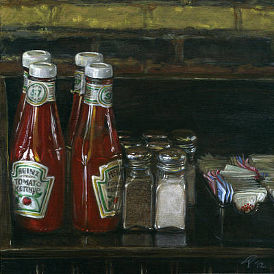Still Life With Ketchup Art Print by Ted Papoulas