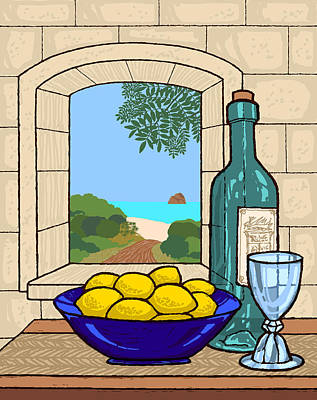 Digital Art - Still Life With Lemons by David Burkart