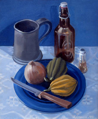 Painting - Still Life With Onion 1991 by Nancy Griswold